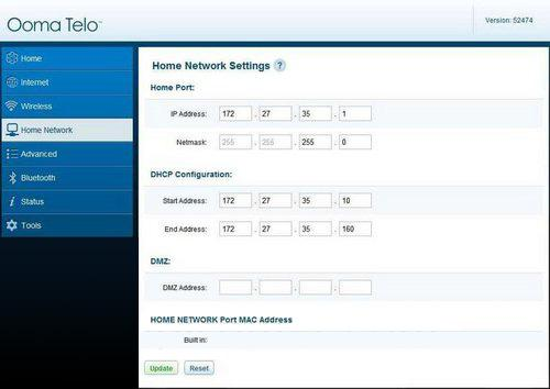 Telo Home Network Settings
